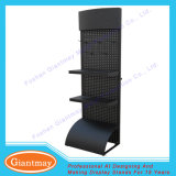 Metal Pegboarfloor Stand Retail Shelving Display Stand