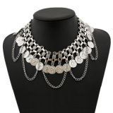 Fashion Coin Tassel Collar Necklace Jewelry