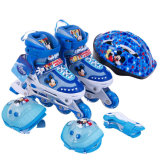 Retractable Inline Skates 4 Wheels Roller Skate Shoes