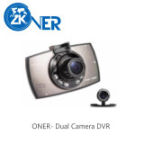 Dual Camera Car DVR Vehicle with Wide View Angle Shoot