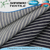 Indigo Wholesale Color-Stripes Polyester Stretch Twill Fabric with Good Quality