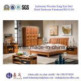 India Design King Size Bed MDF Bedroom Furniture (SH-013#)