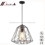 Simpel Design Black Metal Hollow out Pendant Lamp