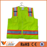 Motorcycle Reflective Safety Vest with Pockets for Policeman