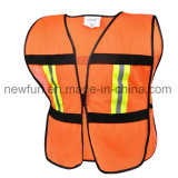 100% Polyester Mesh Fabric Reflective Jacket Traffic Safety Vest
