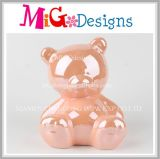 Handmade Light Orange Ceramic Bear Coin Bank Wholesale