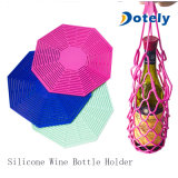 Silicone Wine Bottle Holder with Mesh Bag Placemats Mats