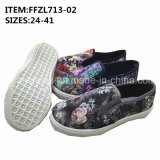 Women Slip-on Canvas Shoes Injection Leisure Shoes OEM (FFZL713-02)