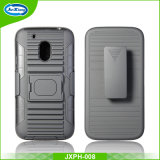 Custom Design Soft TPU Hard Plastic Robot Holster Phone Case for G4 Play with Stand