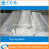 Medical Cotton Absorbent Zigzag Gauze with Ce & ISO Certificates