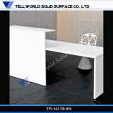 Modern Design White Glossy Corian Material Office Desk (TB-56)