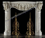 Stone Marble Fireplace Mantel (QY-LS380)
