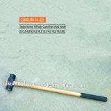 H-22 Construction Hardware Hand Tools Plastic Coated Hard Wood Handle Sledge Hammer