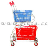 Shopping Cart with Basket, Shopping Trolley with Basket