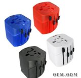Multifunction Dual USB Travel Adapter with Travel Plug (001)
