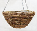 Round Shaped Natural Wicker Basket for Garden