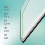 4+9A+4mm Flat Clear Insulated Glass for Building