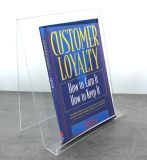 "Custom Size Acrylic Stand with Lip 4"" X 6"" X 1.25"""