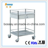 Medical Furniture Stainless Steel Treatment Cart