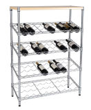 4 Layers Chrome Wine Wire Shelving