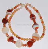 Fashion Natural Crystal Stone Agate Bead Charming Necklace Jewelry