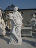 Roman Statue by White Marble Sculpture