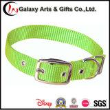Custom Plain Single Adjustable Green Pet Nylon Dog Collar