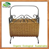 Natural Rattan Storage Basket with Handle for Household