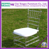 Transparent Chiavari Chair with White Cushion