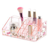 Transparent Acrylic Cosmetic Storage Box for Table Top