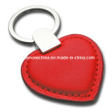 Promotional Heart Shape Genuine Leather Key Chain