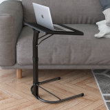 Portable Folding Laptop Stand Table with Plastic Tabletop for Computer Use