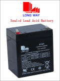 12V 5ah Rechargeable Solar Sealed Lead-Acid Battery (6FM5S)