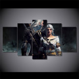 HD Printed The Witcher Geralt and Ciri Painting on Canvas Room Decoration Print Poster Picture Canvas Mc-081
