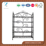 Wrought Iron Shelving Unit with 5 Shelves