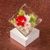 Valentine′s Day Gift Acrylic Flower Box Square Box