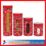 Screen Printings Stainless Coating Glass Jar with Lid