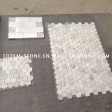Natural Stone Marble Art Mosaic for Bathroom / Kitchen Floor Tile