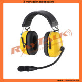 Heavy Duty Headset Dual Earmuff Noise Cancelling Headset (RAN-3000Q Yellow)