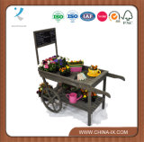Customized Wooden Store Display Cart with Chalkboard Large