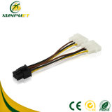 Custom Data 4 Pin Peripheral Wire Cable PCI Power Adapter