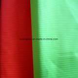 Polyester Strip Jacquard Pongee Fabric with PA Coated for Sportswear