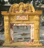 Electric/Stone/Granite/Marble Fireplace Surround/Fireplace Mantels with Stone Carving for Fireplace Decoration (MFP1)