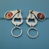 Custom Logo Full Color Printing for Keyrings with Bottle Opener and Nail Clipper