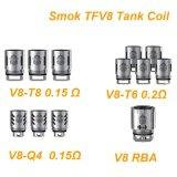 Smok Tfv8 V8-Q4 V8-T6 V8-T8 Rba Heads/Patented Quadruple Coils