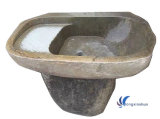 Beige Stone Sink for Outdoor