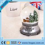 OEM Iron Base Christmas Snow Globe Decoration