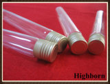 Clear Customized Silica Quartz Glass Test Tube with Aluminum Cover