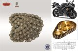 High Tensile Strength 420 Full Plated Copper Motorcycle Chain