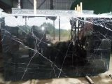 Natural Stone Building Material Black Marquina Marble Slab